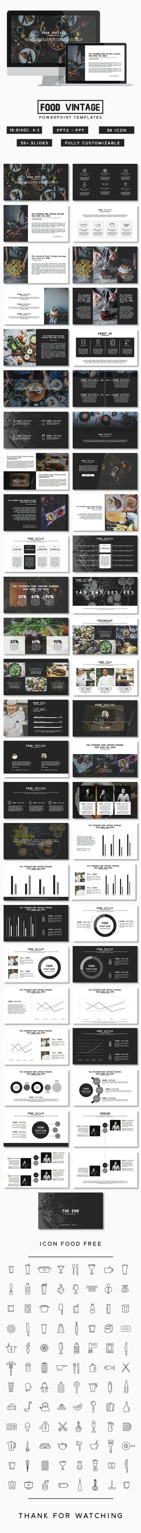 Food Vintage Presentation (PowerPoint Templates):
