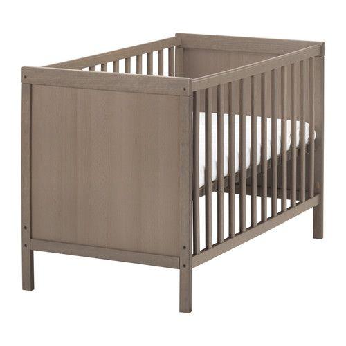 SUNDVIK Lit bébé, gris brun gris brun 60x120 cm