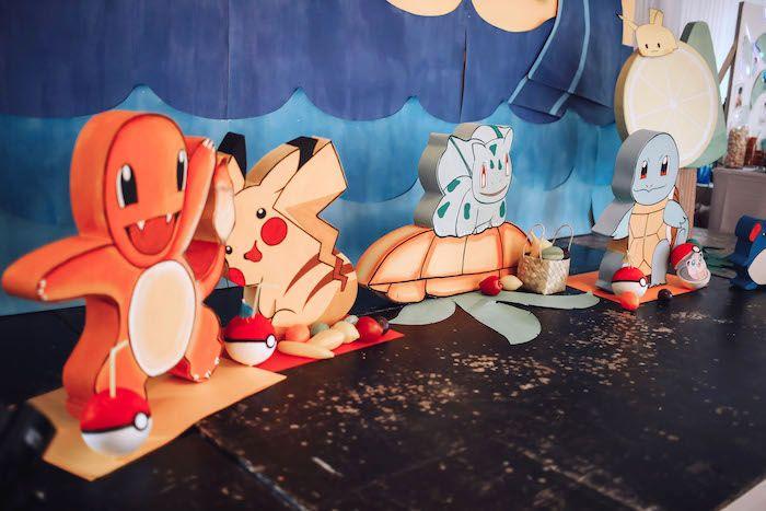 Pokemon standees from a Pokemon Beach Birthday Party on Kara's Party Ideas | KarasPartyIdeas.com (5)