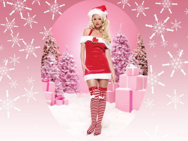 Chica Santa Claus Wallpaper