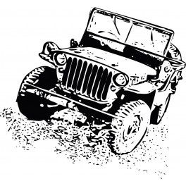 Naklejka samochód Jeep nr 792