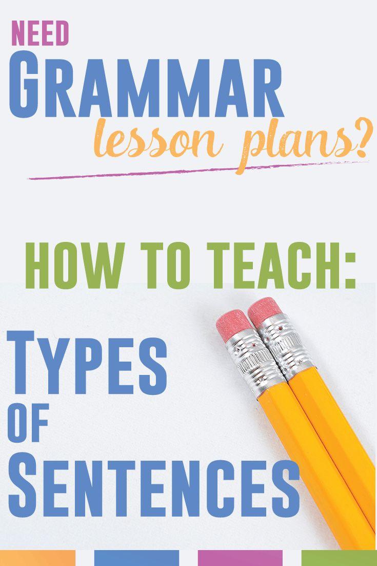 Grammar lesson plans: tips for how to teach types of sentences (simple, compound, complex, compound-complex).