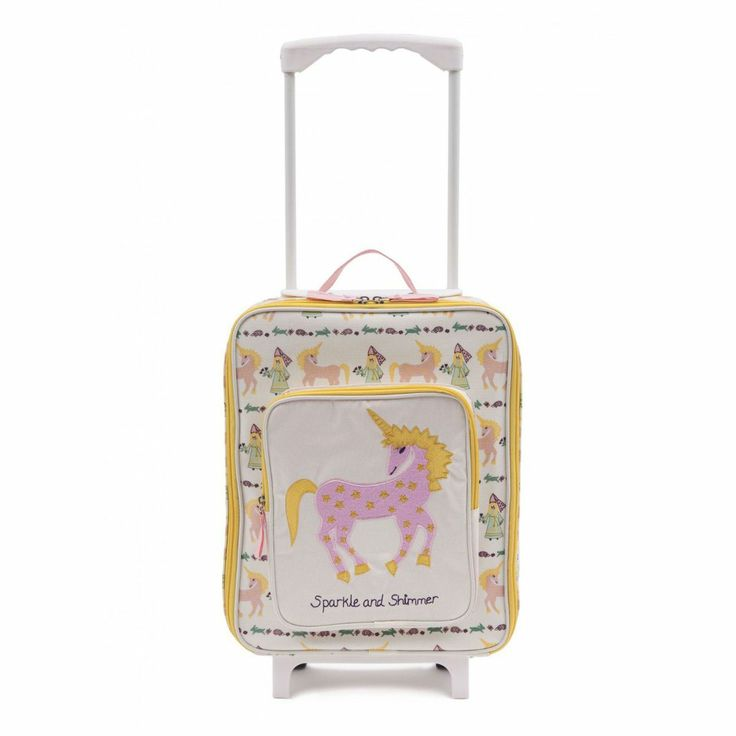Kinderkoffer Trolley 'Princesses & Unicorns' von Pink Lining