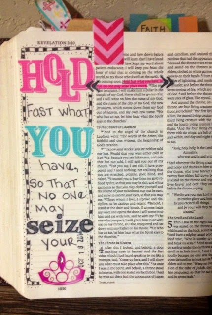 ♥ Revelations 3:11...On my blog today