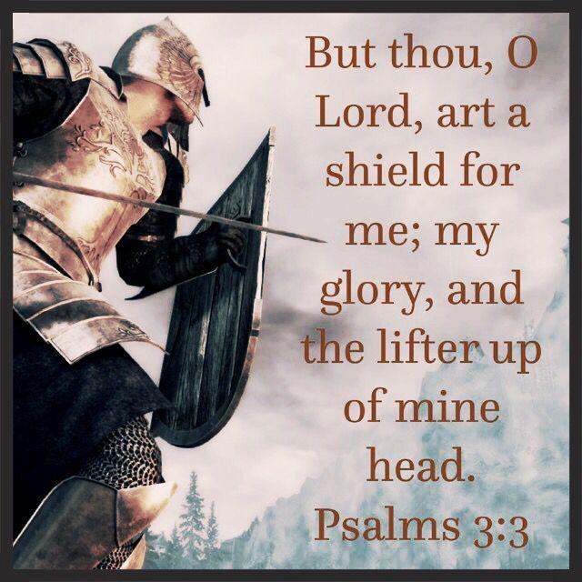 Psalm 3:3 KJV memory verses King James Bible scripture verse ~ Valerie McDaris