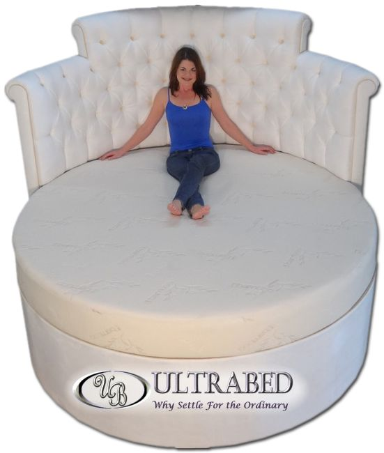 Ultrabed Oversized Beds High End Luxury And Custom King Size Mattressfoam Mattressking Beddingcustom Mattressround