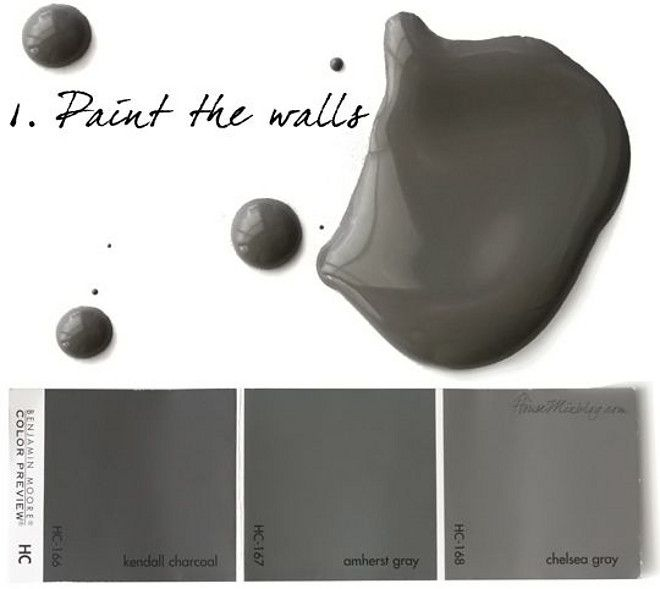 dark charcoal grey paint