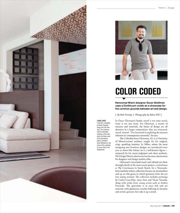 glottman featured in Miami magazine: http://www.glottman.com/alive/oscar-glottman-featured-in-miami-magazine-marchapril-issue-2/