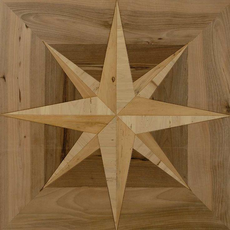 Bespoke pattern from various reclaimed wood species