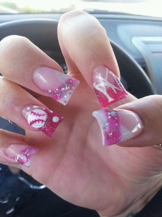 baseball wedding nails