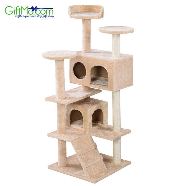 """Amazing 66"""" Cat Tree Tower Condo Furniture Scratching Post Pet Kitty Play House"""