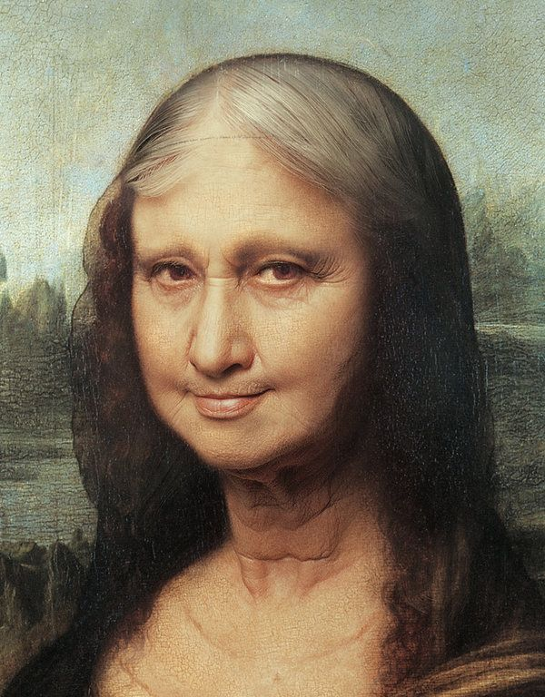 Monalisa getting older (detail) [Roberto Weigand] (Gioconda / Mona Lisa)