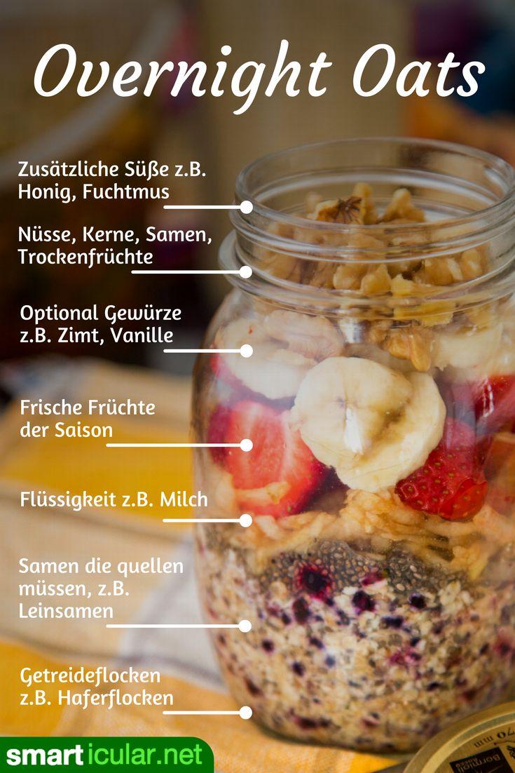 Schnelles, gesundes Frühstück im Glas: Overnight Oats selber machen