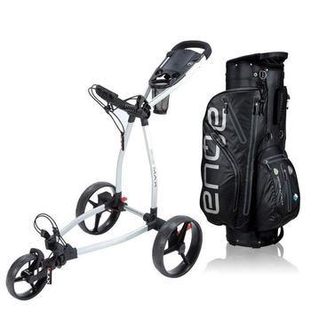 Big Max Blade Golf Push Trolley + Cart Bag Combo