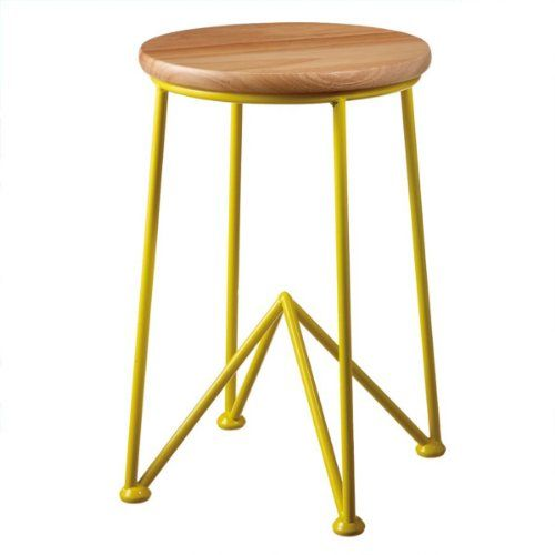 round wooden stool seats 3