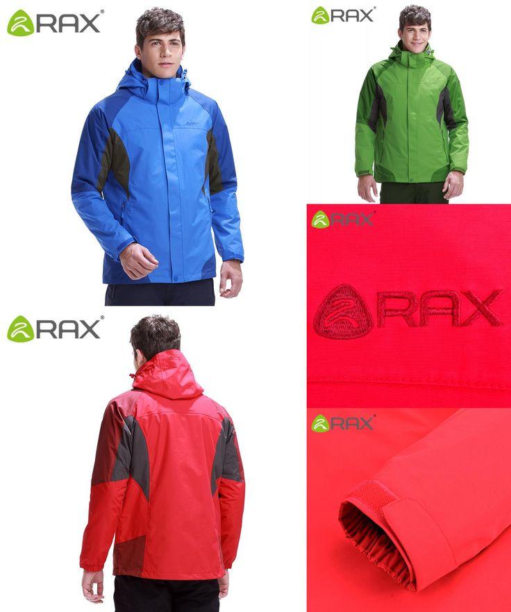 [Visit to Buy] RAX Hiking Jackets Men Softshell Jacket Waterproof Windproof Hiking Jacket  3 in 1 Outdoor Windbreaker 43-1A039 #Advertisement