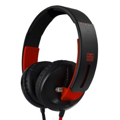Psyc Enzo Headphones (Red/Black) - New technology 57mm speaker drivers provide phenomenal sound. The ultimate headphone for home or street.  Built-in Mic for incoming calls to your mobile. Tangle free flat cable.