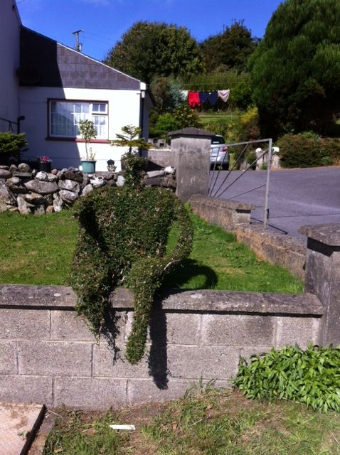 lady topiary on the road to Clonakilty