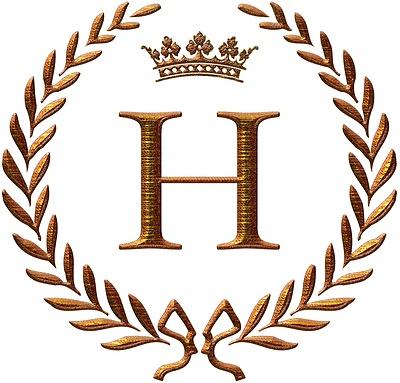 Napoleon initial letter h   monogram