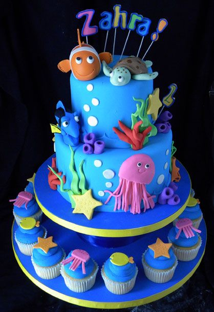 Under the Sea Cake - but with sharks