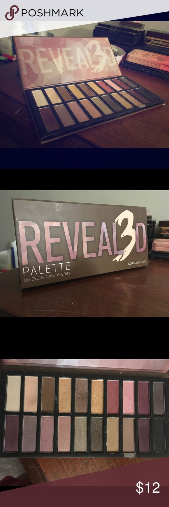 Reveal3D Eyeshadow Palette Used only a handful of times. Good, kind of more neutral colored palette with some fun colors in there. Coastal Scents Makeup Eyeshadow