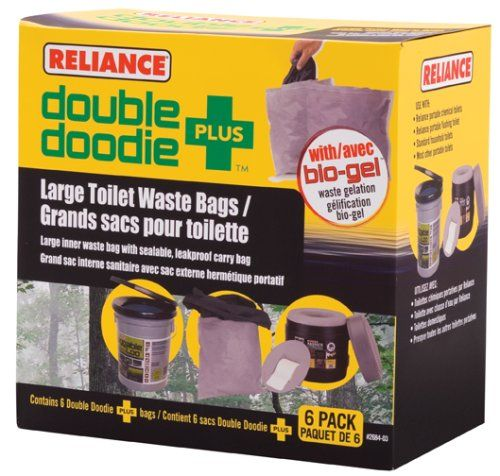 Reliance Products Double Doodie Plus Large Toilet Waste Bags (6-Pack) ** For more information, visit image link.