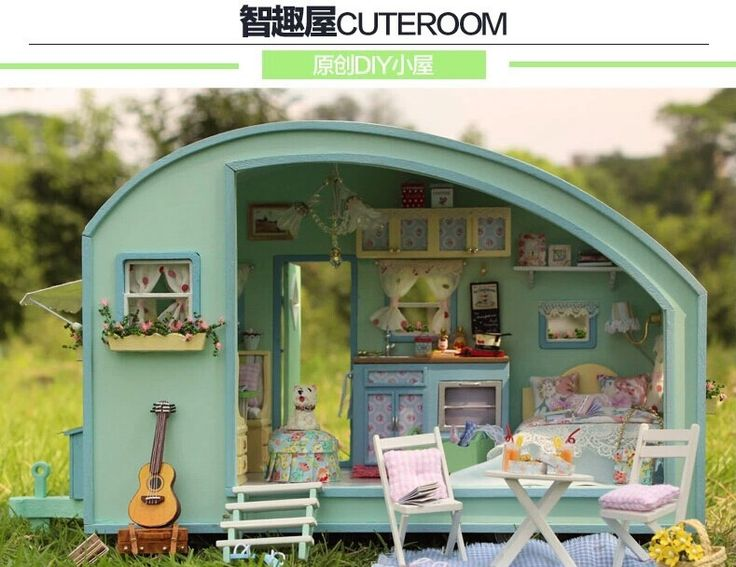 Assembly Dollhouse Toy DIY House Of Caravan Tours , Novelty Handmade Wooden…