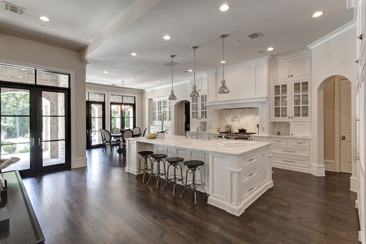 Gorgeous All White Kitchen With Marble Countertops And