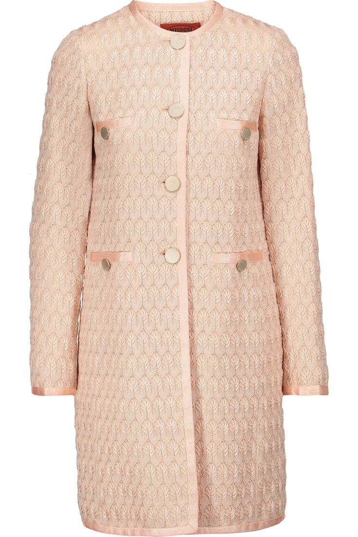 MISSONI Crochet-knit coat. #missoni #cloth #coat