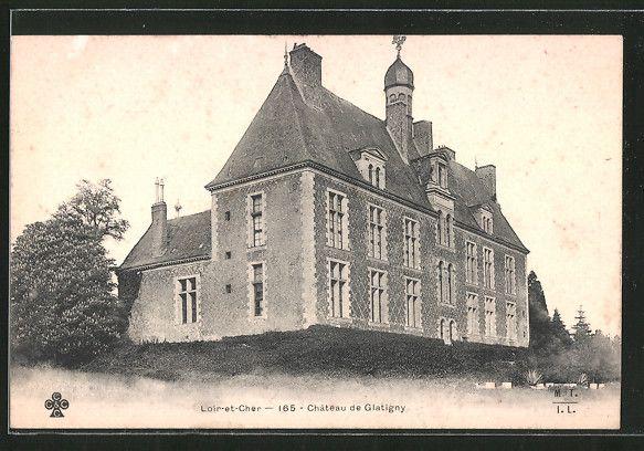carte postale ancienne: CPA Loir-et-Cher, château de Glatigny