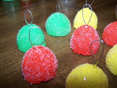 how to make faux Gumdrop Ornaments...this would be great to make with the kiddos!