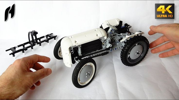 How to Build a Lego Technic Massey Ferguson TE20 (MOC - 4K)