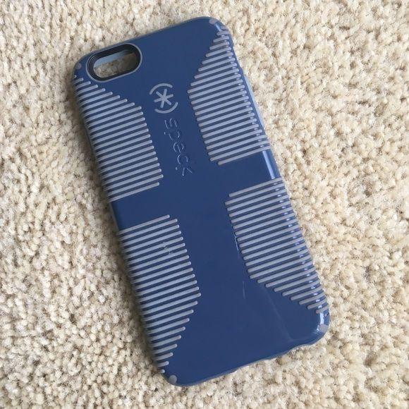 Speck iPhone 6s phone case Used but in good condition. Navy blue with grey detail. Great protection. Speck Accessories Phone Cases