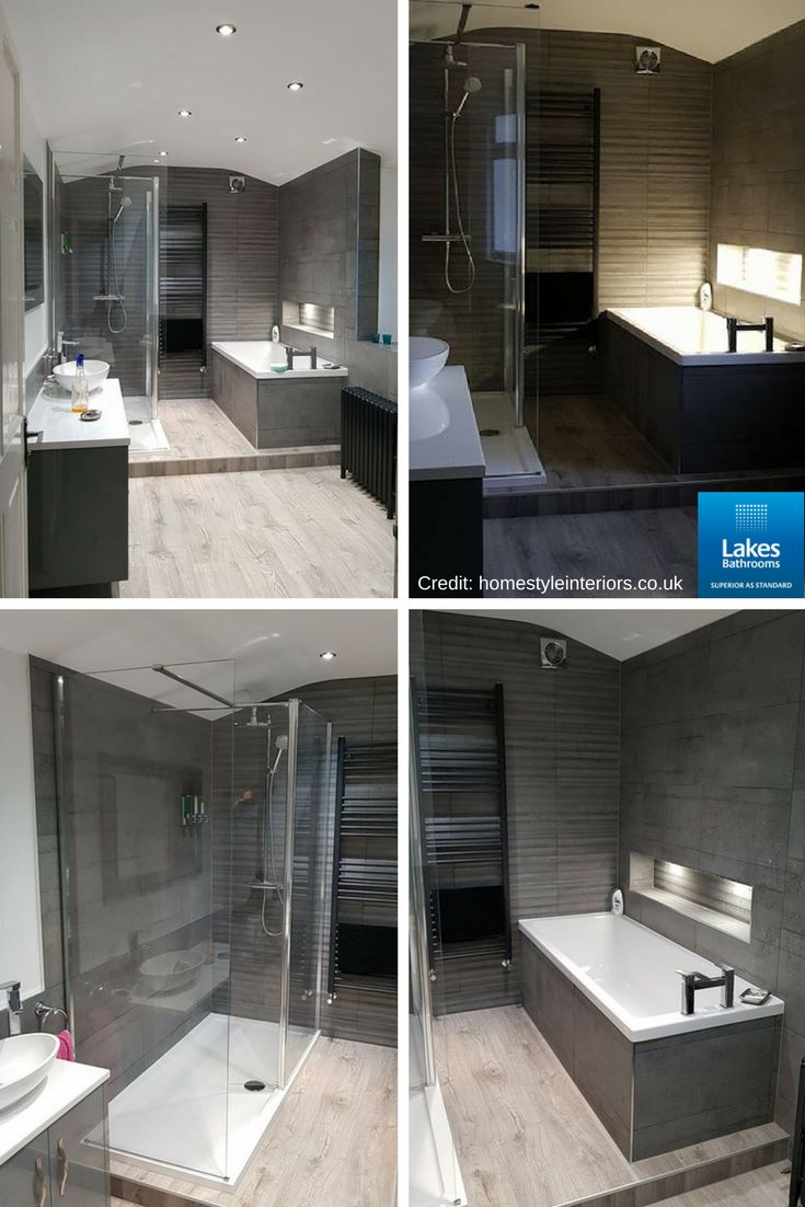 Stunning bathroom design by Homestyleinteriors.co.uk featuring our Levanzo walk-in shower enclosure with side panel.   #RealLakesBathrooms #BathroomDesign #bathroomideas