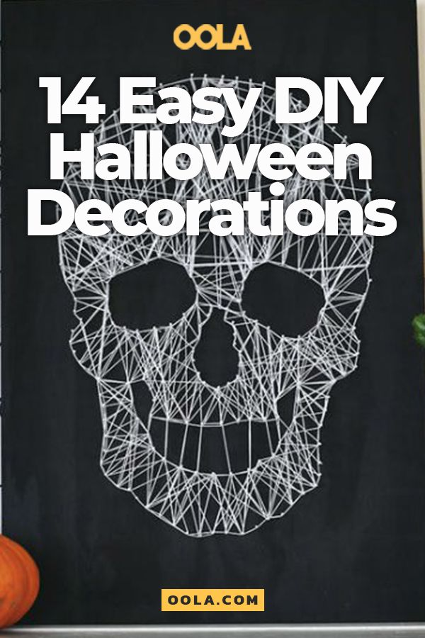14 Easy-To-Make DIY Halloween Decorations DIY Pinterest
