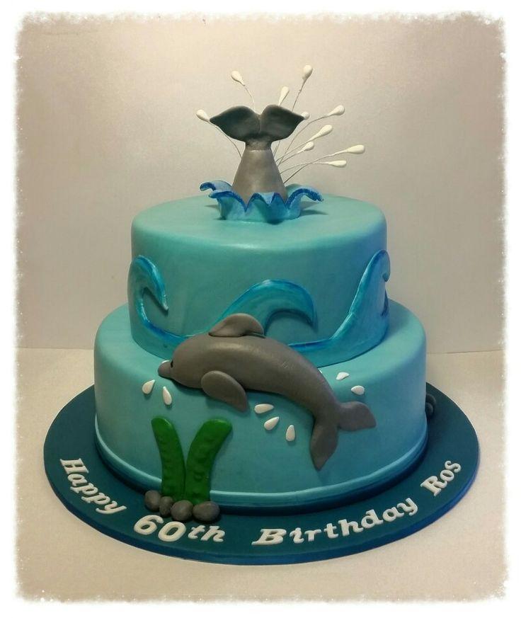 60th Birthday Dolphin cake.