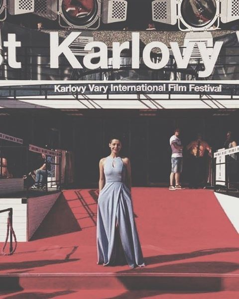 Romanian actress @mariadinulescu spotted in a #Raquette #Gown on the #red #carpet of the 51st Karlovy Vary #International #Film #Festival  #maisonraquette #raquette #celebrities #redcarpet #kviff2016