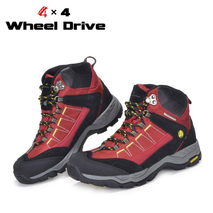 Водонепроницаемый наружный спортивная обувь 4 X 4 полный привод любителей обувь для ходьбы бесплатная доставка