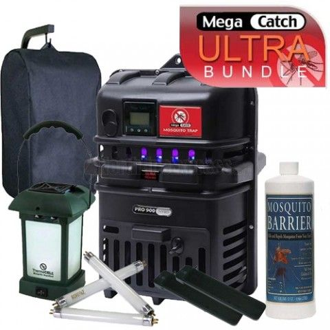 http://www.northlineexpress.com/mega-catch-pro-ultra-mosquito-trap-bundle-mcu900-b1-16872.html The Mega Catch Pro 900 Ultra Bundle includes everything you need to free yourself from pesky biting insects!