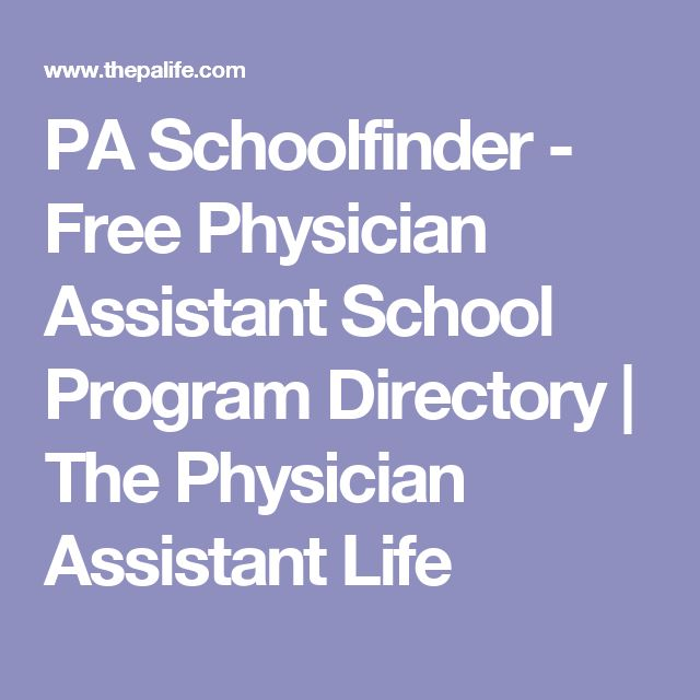 PA Schoolfinder - Free Physician Assistant School Program Directory | The Physician Assistant Life