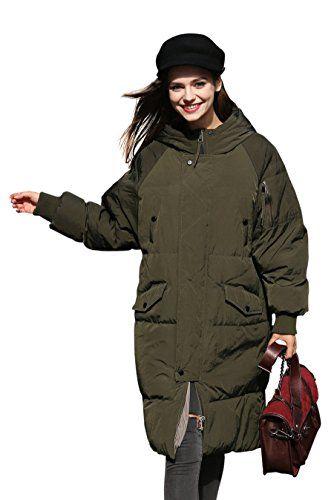 Jacke Damen Mantel Damen Steppmantel Damen Grun Oliv Lang Mantel ... 4e0f1b9842