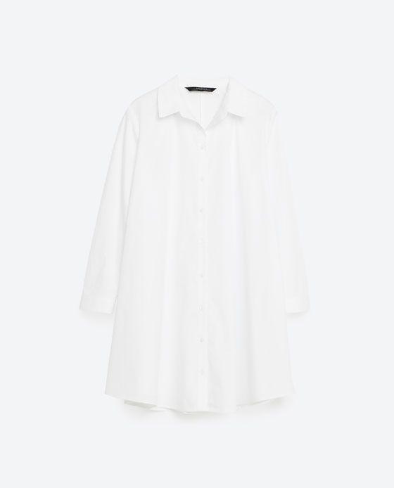 Image 8 of POPLIN DRESS from Zara
