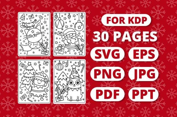 Kdp Christmas Coloring Book For Kids Etsy Christmas Coloring Books Coloring Books Christmas Colors