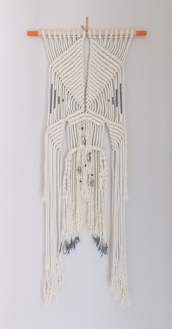 "Macrame Wall Hanging ""Time Travel"" by Himo Art, One of a kind Handcrafted Macrame"