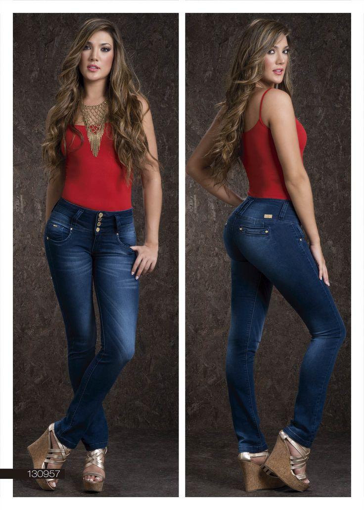 Jeans-Para-Dama-Color-Azul-Bota-Recta- Blue-Jeans-For -8928