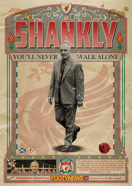 Bill Shankly, legendary manager of Liverpool FC.