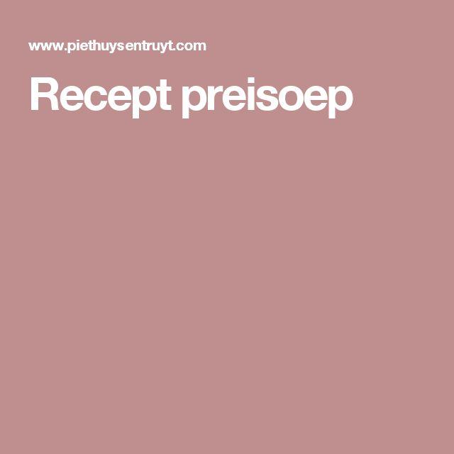 Recept preisoep