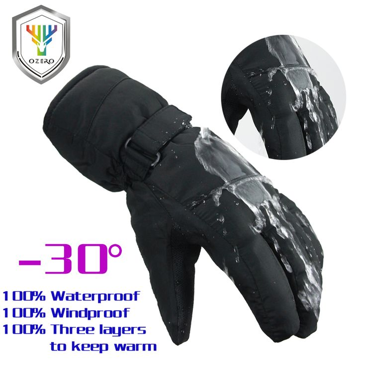 New Winter Ski Gloves Warm Skiing Snowboard Snowmobile Motorcycle Riding Sports Windproof Waterproof Gloves For Men's Woman