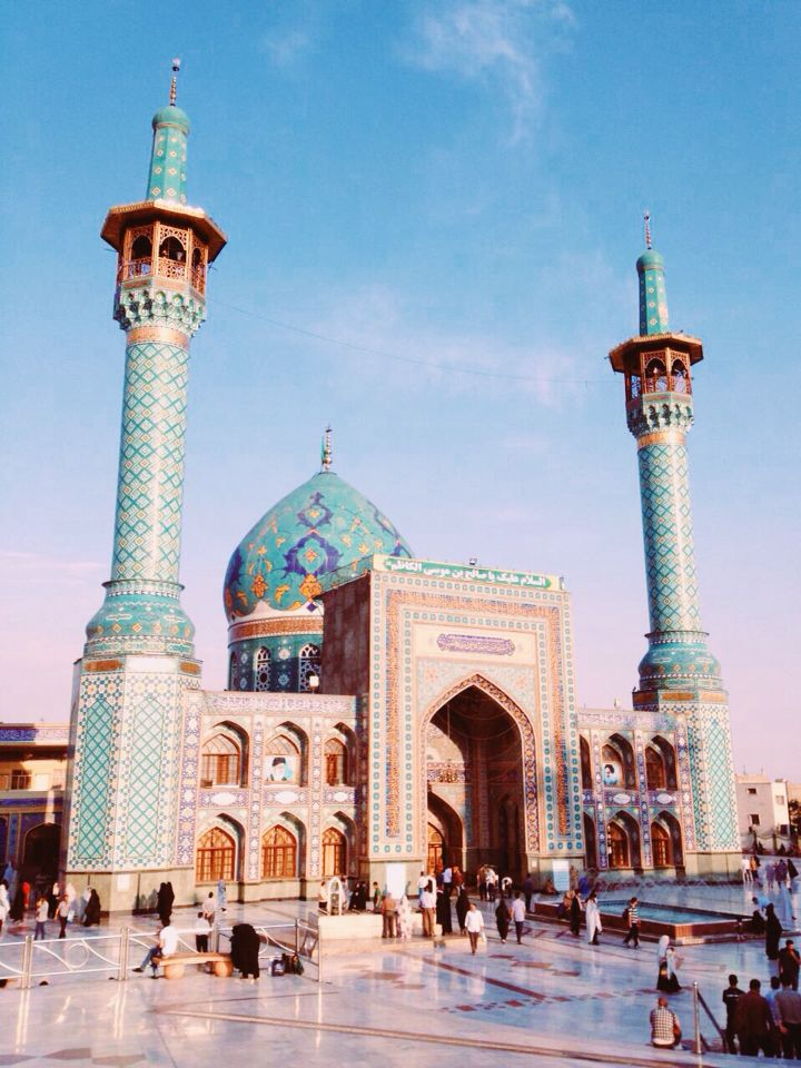 Mosque/tehran/tajrish/iran/blue