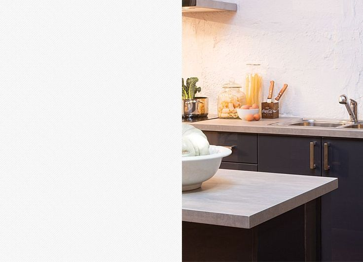 Match our flint stone benchtop with any existing concrete in your home.  Visit kaboodle.com.au for more inspiration!